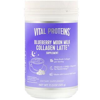 Vital Proteins, Collagen Latte, Blueberry Moon Milk, 11.5 oz (325 g)