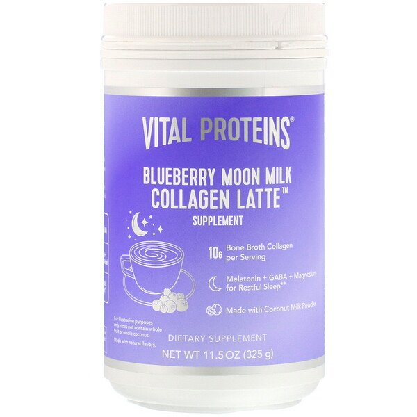 Collagen Latte, Blueberry Moon Milk, 11.5 oz (325 g)