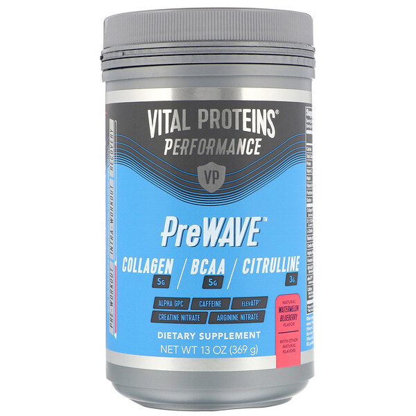 Vital Proteins, Performance, PreWave, Natural Watermelon Blueberry, 13 oz (369 g)