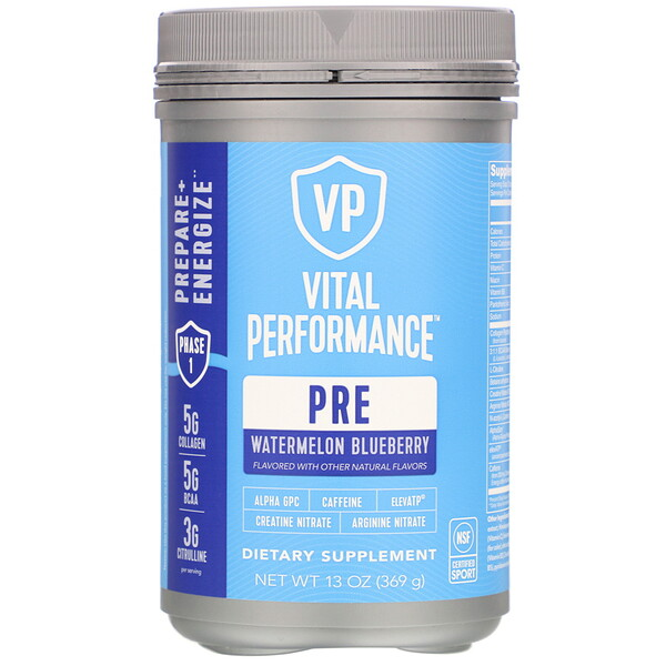 Vital Performance Pre, Watermelon Blueberry, 13 oz (369 g)