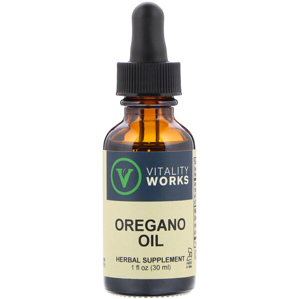 Vitality Works, Oregano Oil, 1 fl oz (30 ml)