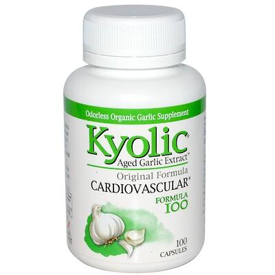 Aged Garlic Extract, формула для здоровья сердечно-сосудистой системы, 100 капсул