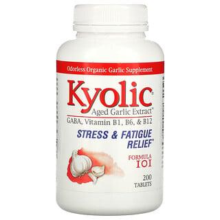Kyolic, Экстракт зрелого чеснока, помощь при стрессе и усталости, формула 101 200 таблеток