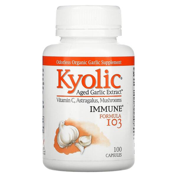 Kyolic, Fórmula inmune 103, 100 cápsulas