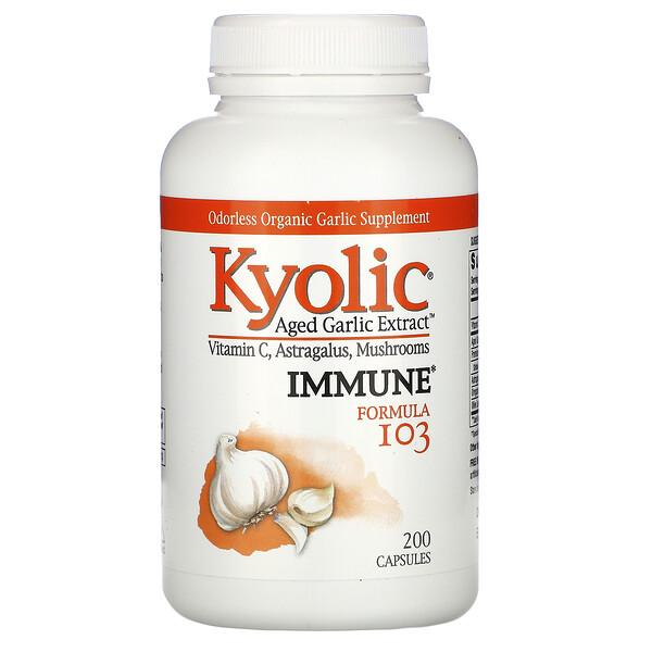Aged Garlic Extract, Immune, Formula 103, 200 Capsules