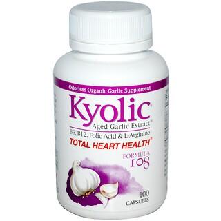 Wakunaga - Kyolic, Total Heart Health, Formula 108, 100 Capsules