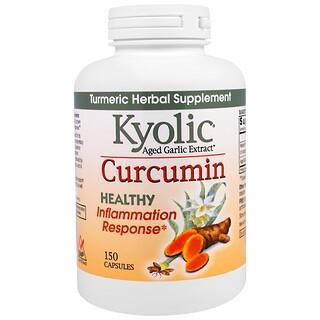 Wakunaga - Kyolic, Aged Garlic Extract, Inflamation Response, Curcumin, 150 Capsules