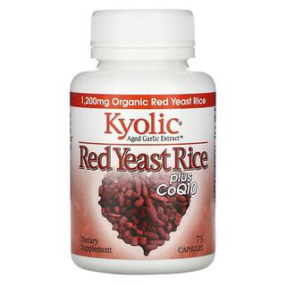 Kyolic, Aged Garlic Extract, Red Yeast Rice Plus CoQ10, 75 Capsules