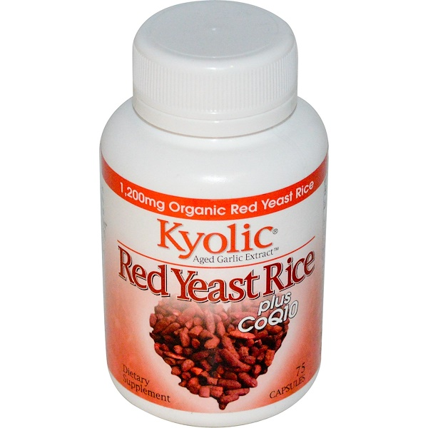 Kyolic, Aged Garlic Extract, Red Yeast Rice, Plus CoQ10, 75 Capsules