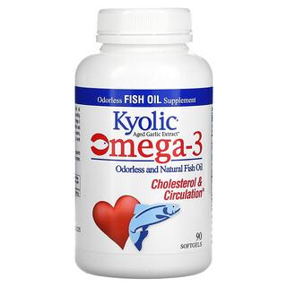 Kyolic, Aged Garlic Extract,  Omega-3, Cholesterol & Circulation, 90 Softgels