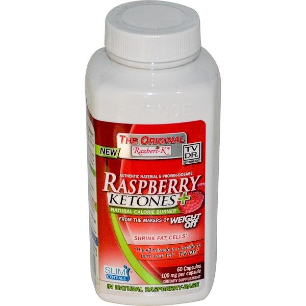 Kyolic, The Original Razberi-K, Raspberry Ketones+, Natural Calorie Burner, 100 mg, 60 Capsules (Discontinued Item)