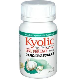 Kyolic, Gealterter Knoblauch-Extrakt, 1000 mg, 30 Filmtabletten