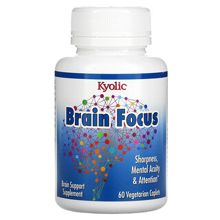 Kyolic, Brain Focus, 60 Vegetarian Caplets
