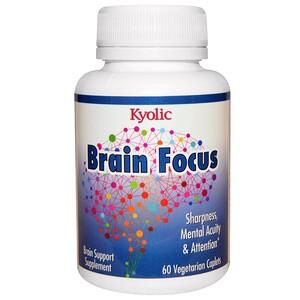 Уакунага Киолик, Brain Focus, 60 Vegetarian Caplets отзывы покупателей