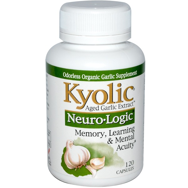 Kyolic, Aged Garlic Extract, Neuro-Logic, 120 Capsules (Discontinued Item)