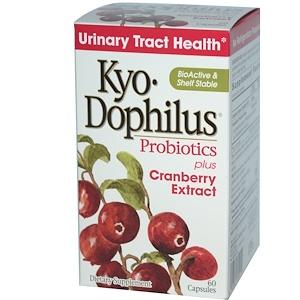 Wakunaga — Kyolic, Kyo-Dophilus, пробиотики, с экстрактом клюквы, 60 капсул инструкция, применение, состав, противопоказания