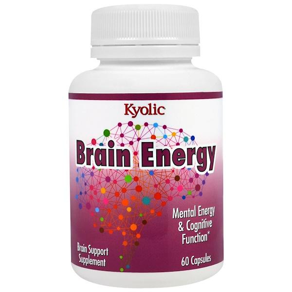 Kyolic, Препарат для повышения работоспособности мозга, 60 капсул