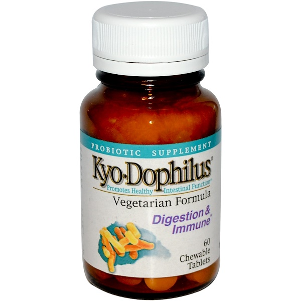 Kyolic, Kyo Dophilus, 60 Chewable Tablets (Discontinued Item)