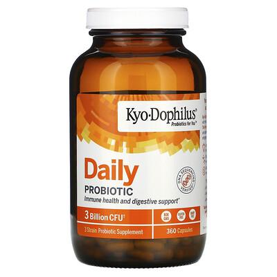 Kyolic Kyo-Dophilus, Daily Probiotic, 3 Billion CFU, 360 Capsules