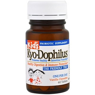 Kyolic, Kid's Kyo-Dophilus, Vanilla Chewable, 60 Tablets