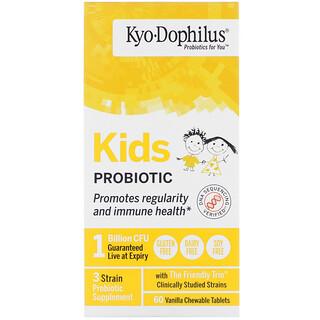 Kyolic, смесь пробиотиков для детей, со вкусом ванили, 60жевательных таблеток