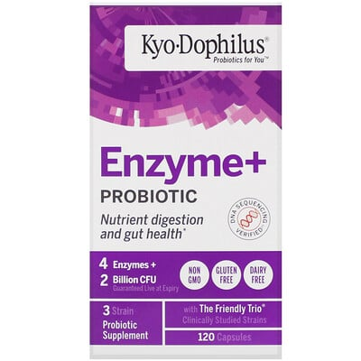 Kyolic Kyo-Dophilus, Enzyme+ Probiotic, 2 Billion CFU, 120 Capsules