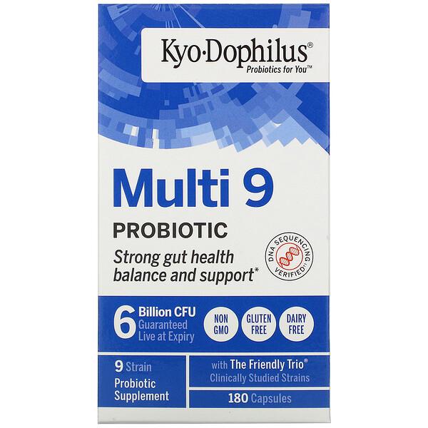Kyolic, Kyo-Dophilus, Multi 9, пробиотик, 6миллиардовКОЕ, 180капсул