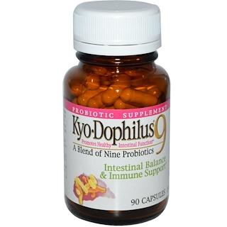 Wakunaga - Kyolic, Kyo-Dophilus 9, Intestinal Balance & Immune Support,  90 Capsules