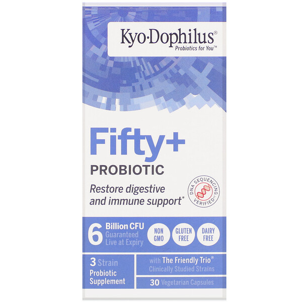 Kyo-Dophilus, Fifty + Probiotic, 6 Billion CFU, 30 Vegetarian Capsules