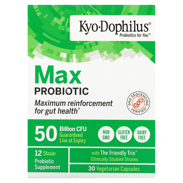 Kyo-Dophilus, Max Probiotic, 50 Billion CFU, 30 Vegetarian Capsules