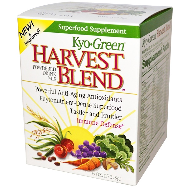 Kyolic, Kyo Green, Harvest Blend, Powdered Drink Mix, 6 oz (172.5 g) (Discontinued Item)