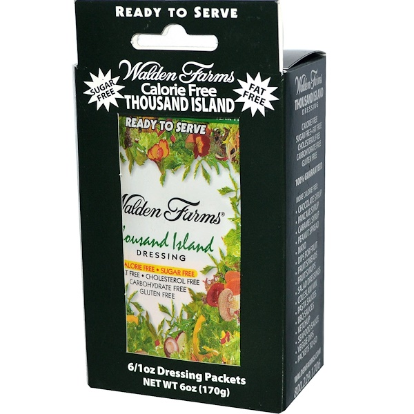 Walden Farms, Thousand Island Dressing, 6 Packets, 1 oz Each (Discontinued Item)