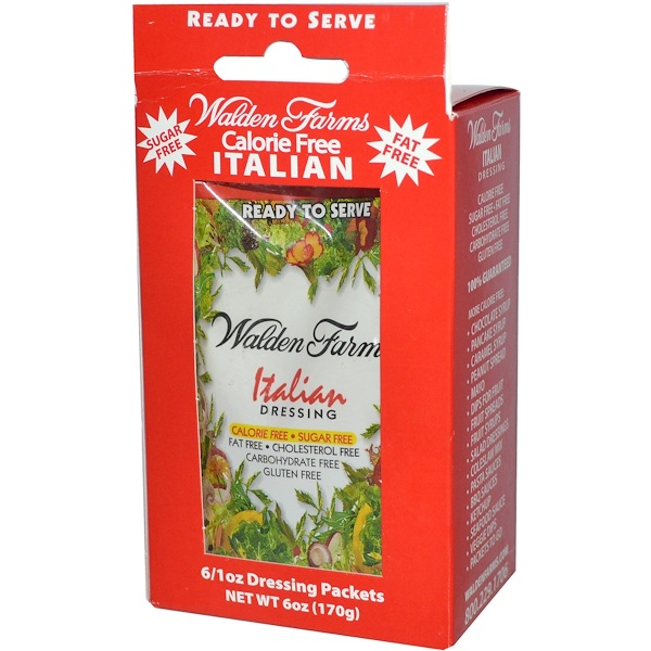 Walden Farms, Italian Dressing, 6 Packets, 1 oz Each (Discontinued Item)