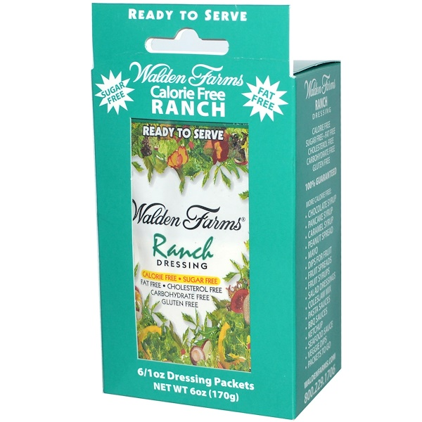 Walden Farms, Ranch Dressing, 6 Packets, 1 oz Each (Discontinued Item)