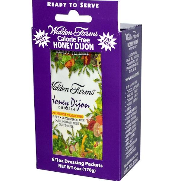 Walden Farms, Honey Dijon Dressing, 6 Packets, 1 oz Each (Discontinued Item)