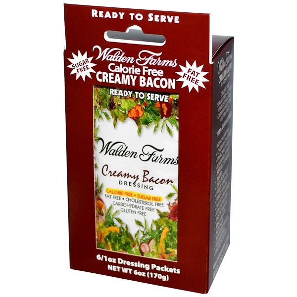 Walden Farms, Creamy Bacon Dressing, 6 Packets, 1 oz Each (Discontinued Item)