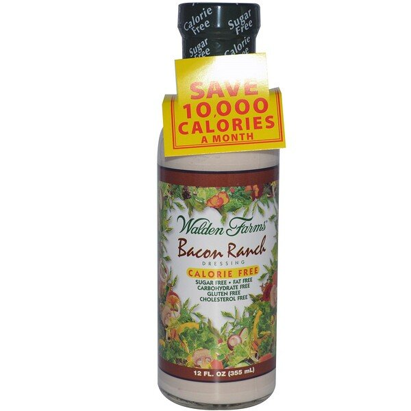 Walden Farms, Aderezo ranchero de tocino, 12 fl oz (355 ml)