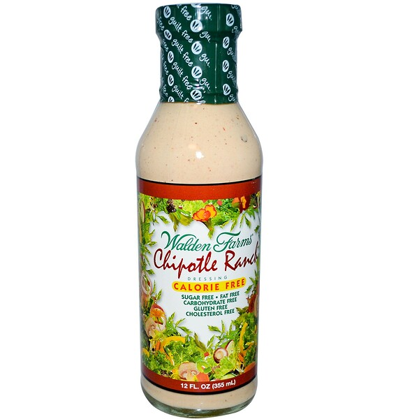 Walden Farms, Molho Chipotle Ranch, 12 fl oz (355 g)