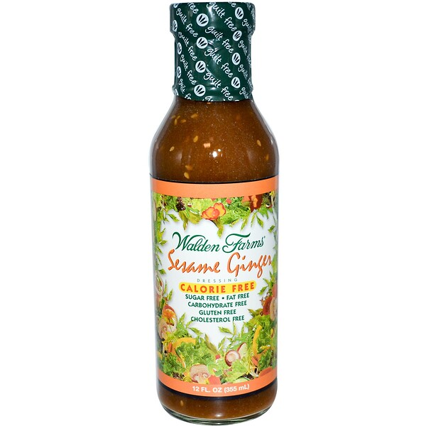 Walden Farms, Aderezo de Sésamo y Jengibre, 12 fl oz (355 ml)
