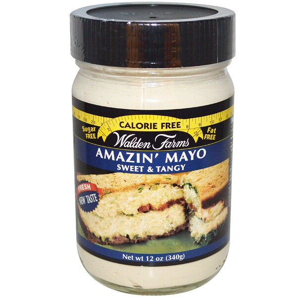 Walden Farms, Amazin' Mayo, 스위트 & 텐지, 12 oz (340 g)