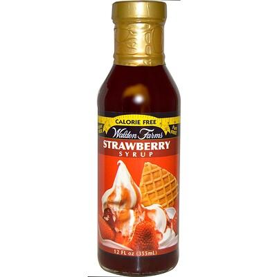 Клубничный сироп, 12 жидких унций (355 мл)  - купить со скидкой