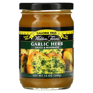 Walden Farms, Garlic Herb Sauce & Marinade, 12 oz (340 g)