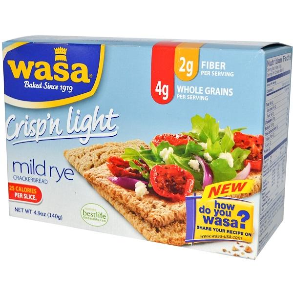 Wasa Flatbread, Лепешки, Crisp'n Light Crackerbread, 4.9 унции (140 г) (Discontinued Item)