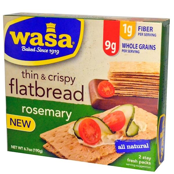Wasa Flatbread, Thin & Crispy Flatbread, Rosemary, 6.7 oz (190 g) (Discontinued Item)