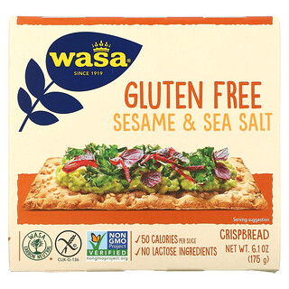 Wasa Flatbread, Crispbread, Sesame & Sea Salt, Gluten Free, 6.1 oz (175 g)