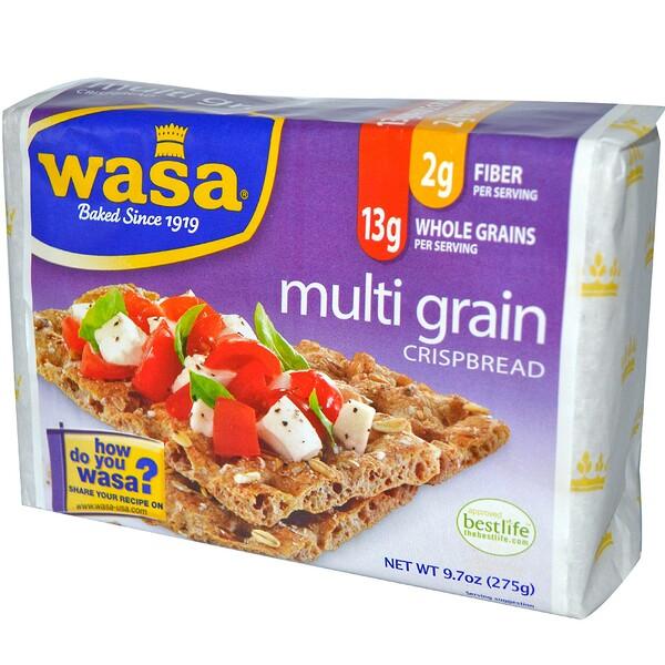 Wasa Flatbread, Хлебцы, Мультизерновые 9.7 унции (275 г)