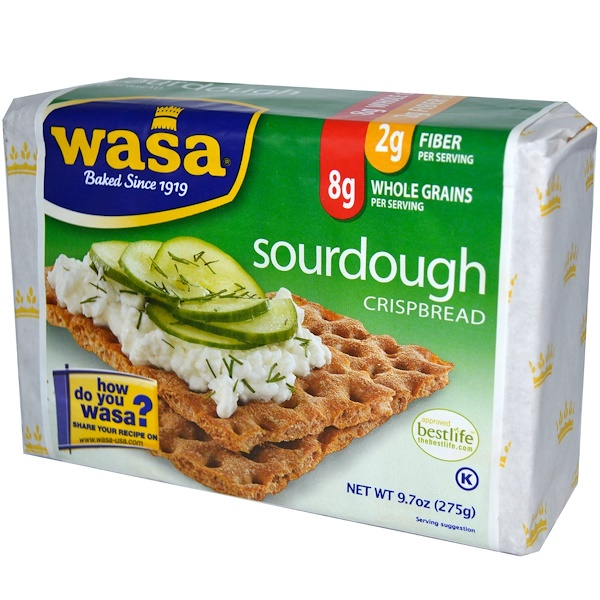 Wasa Flatbread, Crispbread, Sourdough, 9.7 oz (275 g)