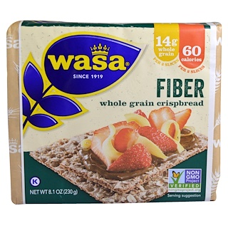 Wasa Flatbread, Whole Grain Crispbread, Fiber, 8.1 oz (230 g)
