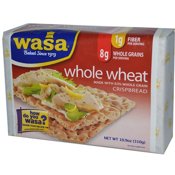Wasa Flatbread, Crispbread, Whole Wheat, 10.9 oz (310 g) (Discontinued Item)