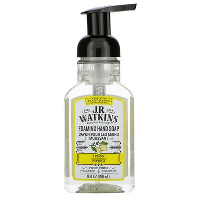 J R Watkins Foaming Hand Soap, Lemon, 9 fl oz (266 ml)